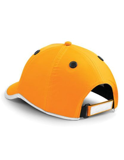 Czapko-Kask Beechfield Enhanced-Viz EN812 Bump Cap - Orange