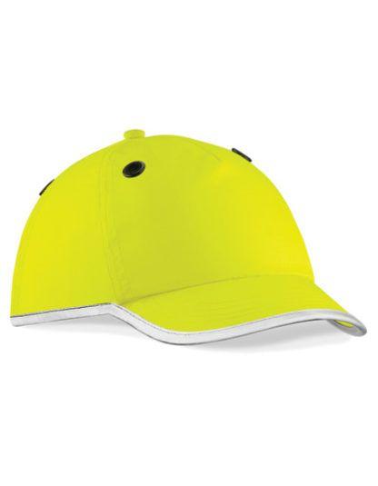 Czapko-Kask Beechfield Enhanced-Viz EN812 Bump Cap - Yellow