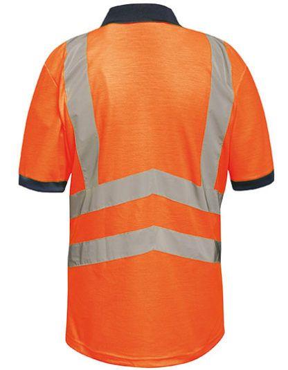 Koszulka Polo z odblaskami Regatta Hi-Vis Pro - Orange/Navy