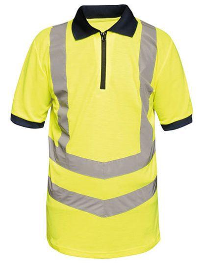 Koszulka Polo z odblaskami Regatta Hi-Vis Pro - Yellow/Navy