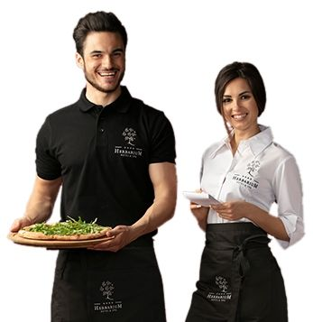 Odzież dla gastronomii Odzież gastronomiczna z nadrukiem logo